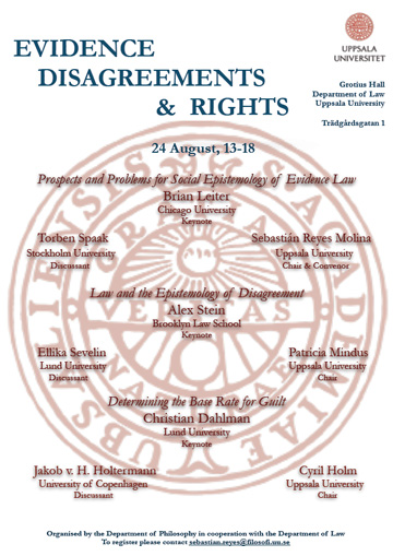 Conference - Evidence, Disagreements & Rights